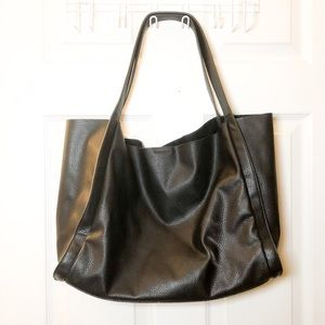 Forever 21 faux pebble leather tote